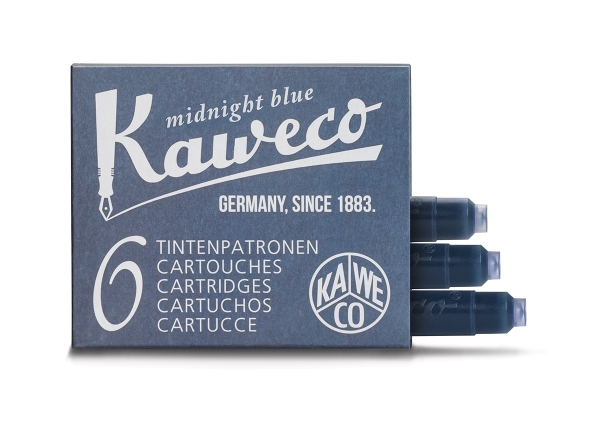 Kaweco Tintenpatronen Mitternachtsblau 6-Pack