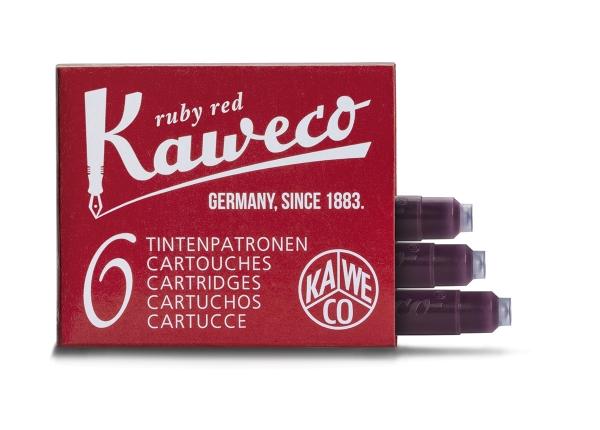 Kaweco Tintenpatronen 6-Pack Rubinrot