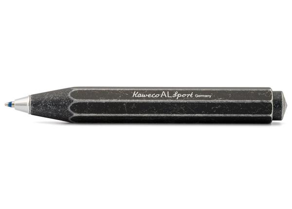 Kaweco AL SPORT Stonewashed Kugelschreiber Schwarz