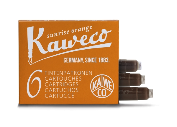 Kaweco Tintenpatronen 6-Pack Sonnenorange