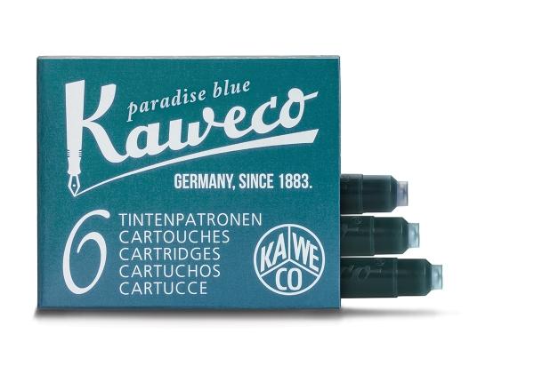 Kaweco Tintenpatronen Paradiesblau 6-Pack