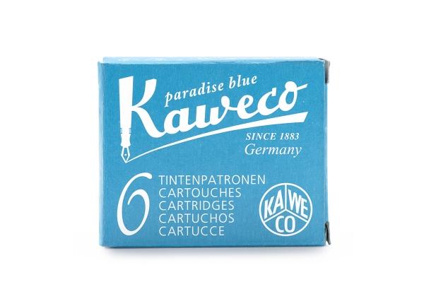 Kaweco Tintenpatronen 6-Pack Paradiesblau