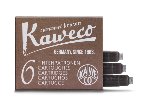 Kaweco Tintenpatronen Karamellbraun 6-Pack