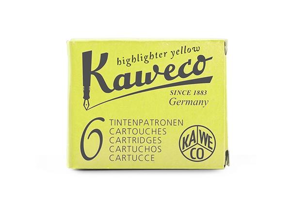 Kaweco Tintenpatronen 6-Pack Neongelb